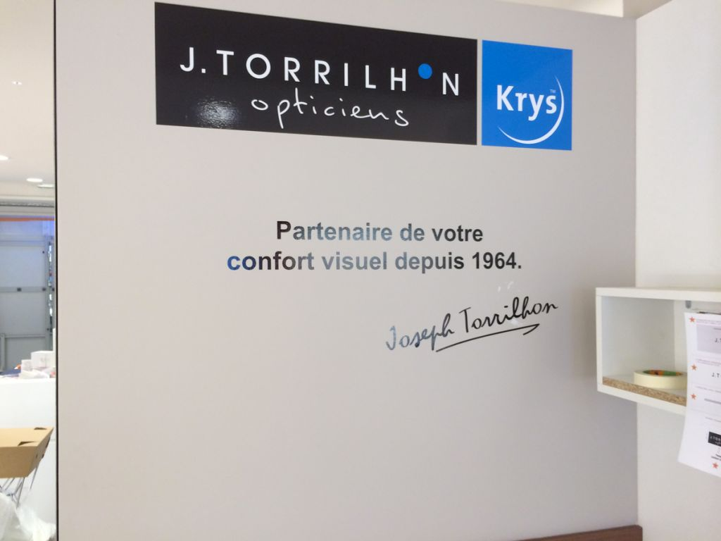 Décoration murale – Opticiens Krys J.Torrilhon
