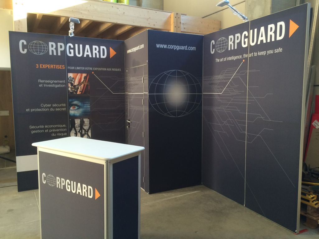 Stand pour exposition – Corpguard